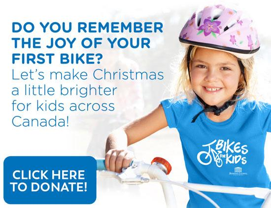 Charity Bikes for Kids Dominion Lending Centres
